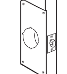SCAR PLATE for door damaged by prying