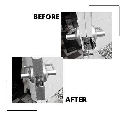 DOOR REINFORCEMENT before and after