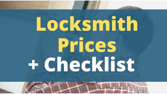 locksmith prices + Checklist