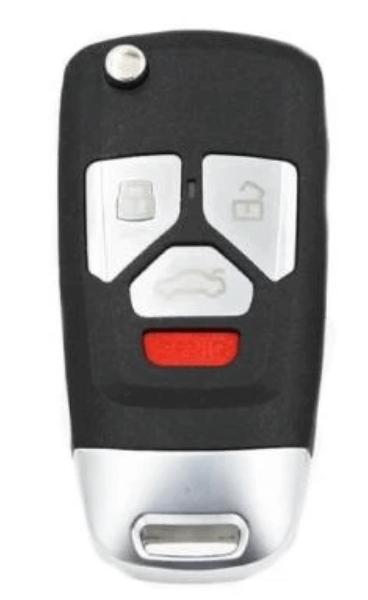 Audi Style : 4-Button Universal Remote Flip Key
