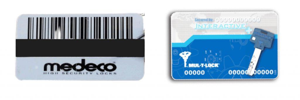high security keys Authorization Card